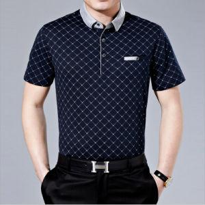 Classic Plaid Cotton Korea Style Polo Knit Tee pictures & photos