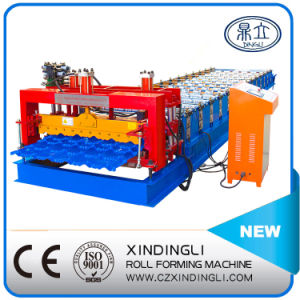 Hydraulic High Quality Glazed Tile Roofing Sheet Roll Forming Machinery pictures & photos