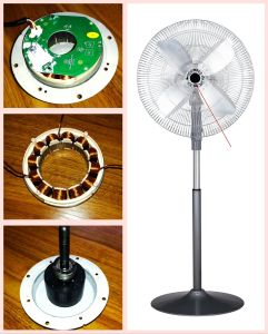 "18"" Solar DC 12V Input Stand Fan with BLDC Motor and Aluminium Blade pictures & photos"