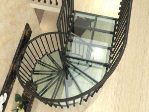 China Aluminum Modular Glass Spiral Staircase Spiral