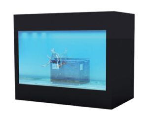26inch Black Cabinet Transparent LCD Display pictures & photos
