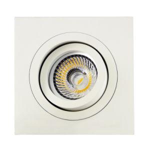 Lathe Aluminum GU10 MR16 Sauqre Tilt Recessed Down Light (LT2301) pictures & photos
