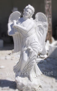 Roman Marble Angle Sculpture in Garden pictures & photos