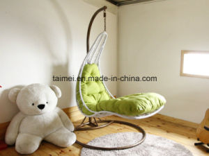 Mermaid Wicker Rattan Swing Chair with Stand pictures & photos