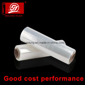 """Clear Plastic Wrap Stretch Film 18"""" Clear Wrap PE Film 15 Micron LLDPE Packing Film Wrap pictures & photos"""