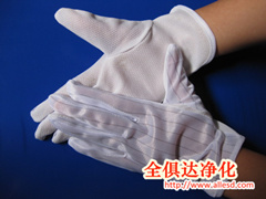 Cleanroom ESD PVC Dotted Gloves pictures & photos