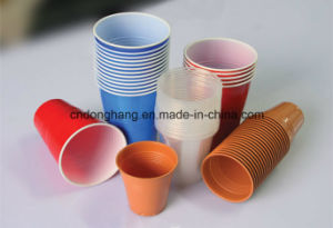 Donghang Automatic Plastic Cup Mouth Curling Machine pictures & photos
