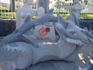 Stone Dolphin Sculpture