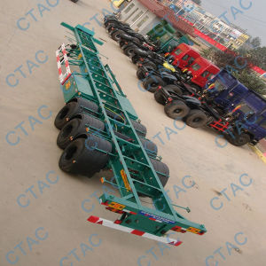 Ctac Best Selling Skeleton Container Semi Trailer pictures & photos