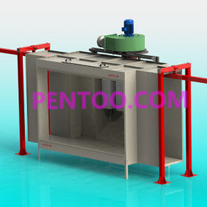 High Quality Manual Powder Coating Booth for Car Wheel pictures & photos