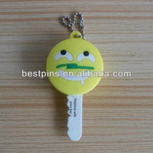 Soft PVC Key Cover, 3D Double Sides Logo Key Cap pictures & photos