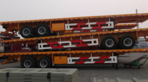 2, 3 Axle Flat Bed Container Semi Trailer pictures & photos