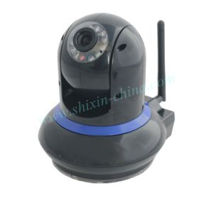WiFi IR 2 Way Audio Webcam Wireless IP Camera with Color Box for iPhone and iPad Mini (IP-212) pictures & photos
