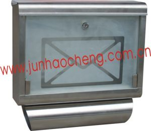 Apartment Stainless Steel Wall Mounted Mailbox with Glass/ Letter Box (JHC-2080)