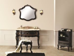 Classical Antique Black Bathroom Cabinet