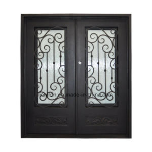 Front Door with Wrought Iron and Glass pictures & photos