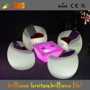 Plastic Outdoor LED Lights Chairs Seater