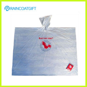 Disposable Cheap Clear Waterproof Hooded Transparent Plastic PE Poncho pictures & photos