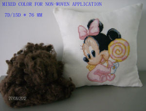 7d/15d*76 Mixed Color Fiber for Non-Woven