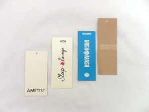 Different Design OEM Paper Printed Hang Tags pictures & photos