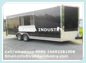 New 2017 7X16 7 X 16 Vnose Enclosed Cargo Trailer W/Ramp pictures & photos
