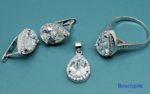Fashion White Cubic Zirconia Jewellery Set (S3302) pictures & photos