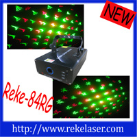 130mw Red and Green Multi Patterns Twinkling Laser Light Output 30mw 532nm Green, 100mw 650nm Red; Sound Control, Auto; Scanner: N1.8 High Precision Stepper M