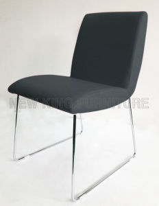 Modern Cheap Hot Sell Steel Leg Leather Dining Chair (NK-DC088) pictures & photos