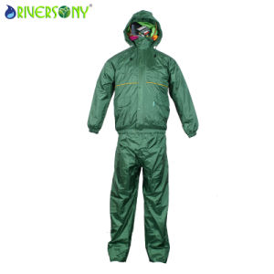 Tralobal Breathable Shining Nylon Rainsuit pictures & photos
