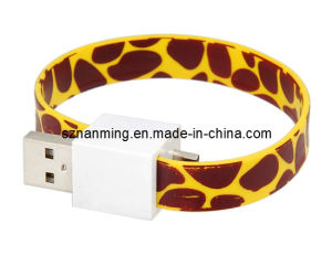 Blacelet Wristband Flat Micro USB Cable pictures & photos