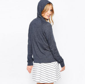 China Manufacturer Good Quality Gray Color Women′s Hoodie with Hood pictures & photos