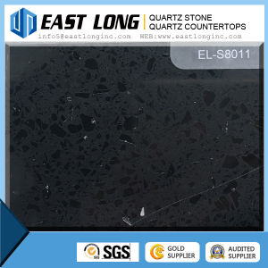 Factory Price Artificial Black Quartz Stone Countertop Wholesale pictures & photos