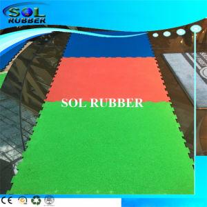 Bright EPDM Slip Resistant Interlock Gym Floor Rubber Mat pictures & photos