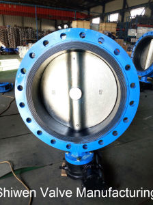 ANSI 150lb Wcb Flange Type Butterfly Valve with Gear pictures & photos
