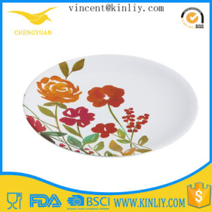 FDA SGS Melamine Oval Dinner Plate pictures & photos