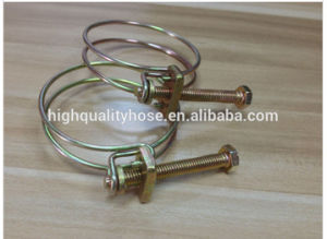 Carbon Steel / Stainless Steel Double Wire Hose Clamp pictures & photos