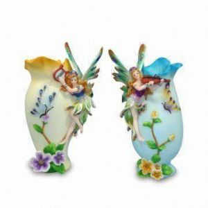 Resin Plated Beautiful Girl Crafts for Home Decoration (CN0082) pictures & photos