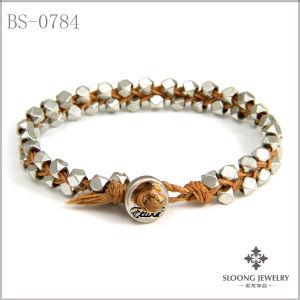 Silver Bracelet Multi Faceted Beads Bracelets