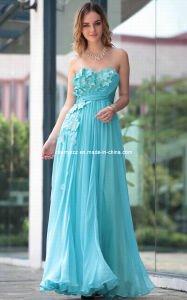 Strapless Formal Bridesmaid Party Evening Dress
