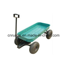 Pneumatic Tyre Four Wheels Kids Wagon Tool Cart pictures & photos