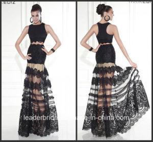 Black Tarik Prom Party Dress Two Piece Lace Evening Dress E15120 pictures & photos