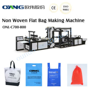 Manual Non Woven Handle Bag Making Machine pictures & photos