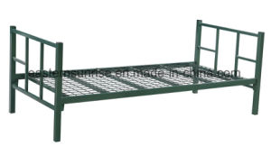 Low Price Heavy Duty Qualified Metal Steel Iron Single Bed pictures & photos