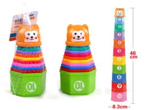10in1 Number Colorful Bear Stacking Cup pictures & photos
