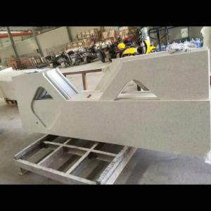Ice White Prefab Quartz Countertops for Kitchen pictures & photos