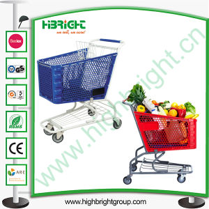 180 Litres Plastic Super Market Shopping Trolley Cart pictures & photos