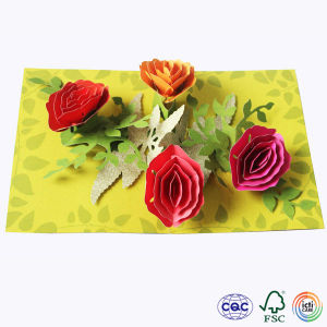 Pop-up Card of Flower for Children
