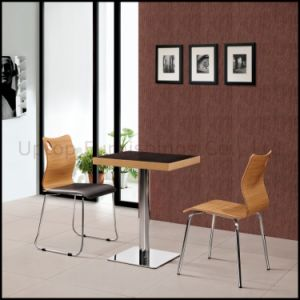 Fast Food Cafeteria Furniture Plywood Table and Chair Set (SP-CT507) pictures & photos