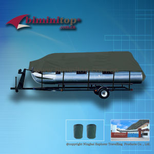 Trailerable Pontoon Boat Cover (ECP600-A)