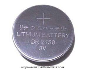 Cr2450 3V Lithium Battery Cell pictures & photos